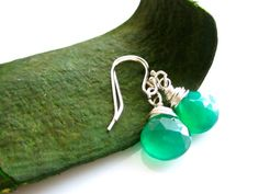 Natural Gemstone  Chalcedony   Kelly Green  by cocowagner on Etsy, $25.00