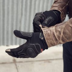 Union Garage NYC | REV'IT! Striker. Ventilated summer glove with touchscreen compatibility.
