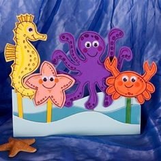 A perfect project for kids - make these simple, fun foam puppets for sea-themed storytelling and play