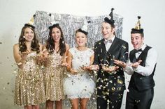 54 Unordinary Photo Backdrop Ideas For Your New Years Eve Party Decor - New Year's is the perfect time to have a blowout party. When you're having a big party, big decorations are in order. A party to celebrate the first o. New Years Wedding, New Years Eve Weddings, New Years Eve Party, New Year's Eve Celebrations, New Years Eve Outfits, Wedding Designs, Bridal, Wedding Dresses, Inspiration