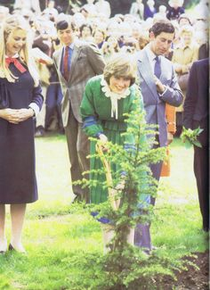 Lady Diana Spencer and Prince Charles in 1981- Broadlands