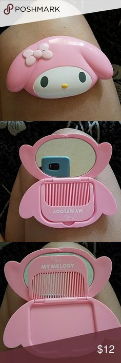 My melody compact with brush Never used, small an perfect for in the go Sanrio Other