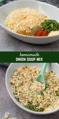 Homemade onion soup mix is perfect for homemade french onion dip, meatloaf, burgers, soup, and more! The best part is, no weird ingredients or MSG! Get the easy recipe on RachelCooks.com! via @rachelcooksblog