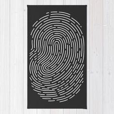 Fingerprint Rug by EARTh   Society6