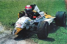 1994 Imola #JJLehto stalled in the #Benetton at the start and was collected at huge speed by Pedro #Lamy in the Lotus-Mugan-Honda, who's view of #Lehto was blocked until the last second by the cars in front of him  #Lotus #Mugen #Honda #F1 #GP .