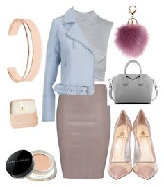 """nude pastels"" by kaye-viecelli on Polyvore featuring Topshop, Jitrois, Gestuz, Semilla, Givenchy, Leith, Marc Jacobs, Henri Bendel, women's clothing and women"