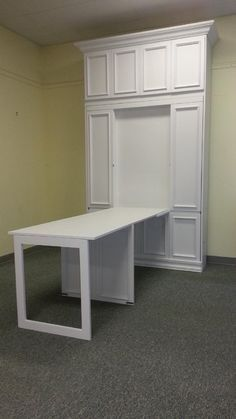 Folding Desk Added To The Front Of Murphy Beds