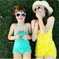 One piece swimsuits for the littles #reyswimwear #whosaysithastobeitsybitsy #reyswimwearlittles #onepieceswimsuit #modestswimsuits #modestswimsuit  www.reyswimwear.com