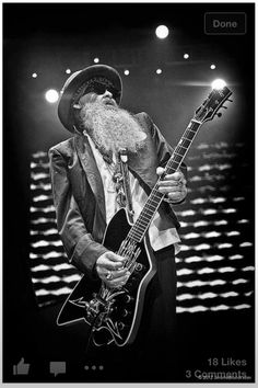 Billy Gibbons of ZZ Top, Mountain View 2010 Billy Gibbons, Hipster Beard, Zz Top, Great Pic, Texas, Blues Rock, Music Photo, Ringo Starr, Music Guitar