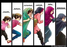 Never Too Late by saurukent on DeviantArt Islamic Quotes Wallpaper, Islamic Love Quotes, Muslim Quotes, Islamic Inspirational Quotes, Image Citation, Islamic Cartoon, Hijab Cartoon, Islamic Girl, Learn Islam