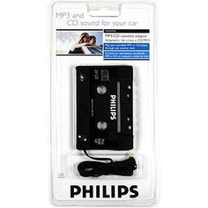 Philips Cassette Adapter by Philips. $9.99. Conveniently fits most cassette decks with a three cord postion. Enjoy your digital music through your home or car stereo. Fits front- and side-loading cassette players. Includes a 3.5mm connector. Plugs into your iPod, MP3, CD, and cassette player.