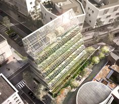 ABF lab turns food farm tower in romainville, france towards the sun