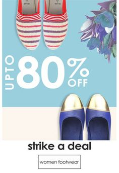 Yepme.com is here with an amazing deal for all the women out there, where you get up to 80% off on women's footwear. One can pick from various sort of footwear like sport shoes, heels, flats & lot more. So without delaying anymore, just hurry and avail this offer immediately. Store Name:Yepme.com Deal:up to 50% ...
