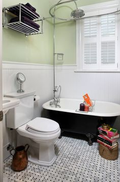 10 Design Clawfoot Tub for Your Master Bathroom: Built In Traditional Bathroom With Claw Foot Tub And Light Green Wall Also Bathroom Sink With Rain Showerhead Plus Bathoom Floor Tile ~ franklester.com Bathroom Inspiration
