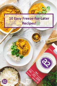Milk Recipes, Canning Recipes, Healthy Recipes, Make Ahead Freezer Meals, Easy Meals, Freezer Recipes, Fodmap Meal Plan, Air Fryer Recipes Easy, Frozen Meals