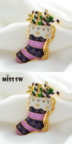 157508d9bb ... Great Products. Merry Christmas socks New brooches pins crystal vintage  Brooches Rhinestone beautiful brooches Xmas decoration jewelry