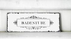Shabby Vintage Holz Schild BADESTUBE franske von homestyle-accessoires via dawanda.com
