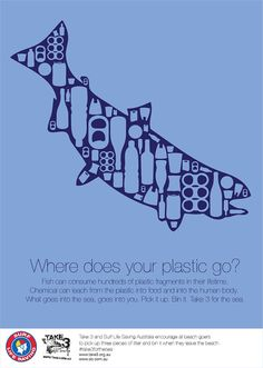 Where does your plastic go? on Behance Ocean Pollution, Plastic Pollution, Environmental Posters, Save Environment, Save Our Oceans, Save Our Earth, Save The Bees, Flyer, Beach Clean Up