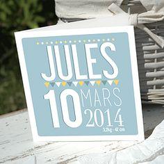 Faire part naissance Jules