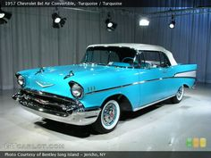 DREAM CAR - 1957 Chevy Bel Air Convertible with turquoise interior
