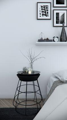 Minimal bedroom interior design by Tsvetan Stoykov