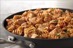 Rotini And Spicy Chicken In Creamy Tomato Sauce