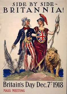 Items similar to Britain's Day Britannia & Uncle Sam WWI Vintage Art Print - Digitally Remastered Fine Art Print / Poster on Etsy Vintage Ads, Vintage Posters, Vintage Prints, Jules Cheret, Ww1 Posters, Travel Posters, Travel Ads, Retro Poster, Kunst Poster
