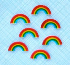 Rainbow Edible Sugar Decorations for Cupcake and Cake Decorating (24). $6.25, via Etsy.