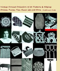 #Crochet Patterns - A Collection of Vintage Crochet Patterns and Edgings - 38 Patterns Featuring Doilies, Hot Pads, Lunch Sets, Purses and More eBook: Craftdrawer Craft Patterns, Bookdrawer: Kindle Store