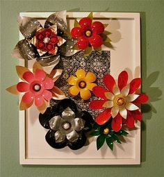 plastic bottle flowers, great for recycling project.