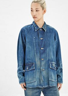 chambray | denim shirt | chimala workshirt | vintage wash | designer | casual | faded denim | www.totokaelo.com