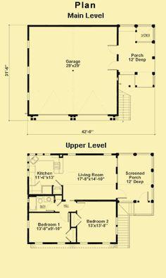Garage Plans With 2-Bedroom Apartment & Garage Floor Plans