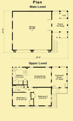 Garage Plans With 2-Bedroom Apartment & Garage Floor Plans