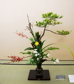 Ikebana Ikenobo, rikka style by Otomodachi, via Flickr