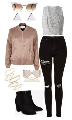 """""""Night Out"""" by madelinegray on Polyvore featuring Miss Selfridge, Topshop, Jennifer Meyer Jewelry, River Island, Billini, Gucci and BP."""