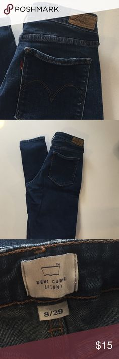 "Levi's Demi Curve Skinny Jeans These Levi ""Demi curve"" skinny jeans are a size 8/29 and are in good used condition. These look fantastic on curvy figures. Please let me know if you have any questions! Levi's Jeans"