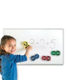 Love this Magnetic Whiteboard Racecar Eraser - Set of Four by Learning Resources on #zulily! #zulilyfinds