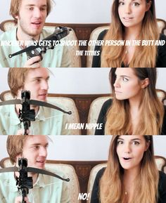 LMFAO. Her reaction. = PRICELESS <3 I love Pewds and Marzia!