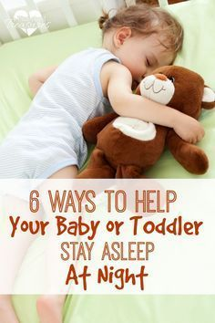 Does your baby or toddler have trouble staying asleep at night? Here are six ways to help your toddller or baby sleep through the night without waking up! Kids Sleep, Baby Sleep, Child Sleep, Sleep Help, My Bebe, Baby Boy, All Family, Little Doll, Everything Baby