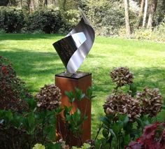 stainless steel sculpture - outside is polished - inside matted