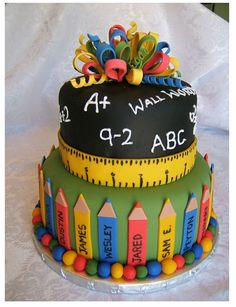 Perfect Cake for Teacher Appreciation Day!
