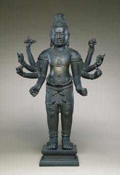 Image from http://upload.wikimedia.org/wikipedia/commons/2/2b/Cambodian_-_Eight-armed_Avalokiteshvara_-_Walters_542726.jpg.