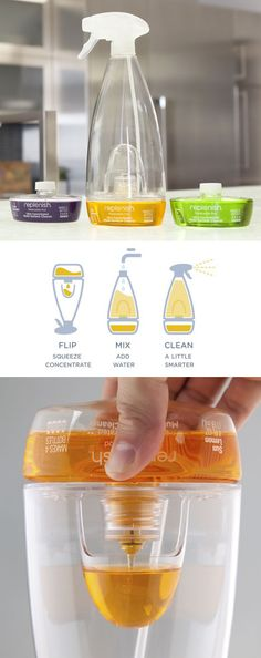 replenish spray bottle -- smart way to cut down on materials and shipping impacts