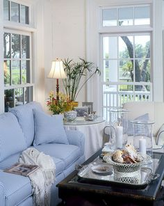 I do like blue and white furniture houseplans.southernliving.com