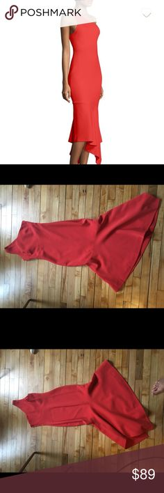 Cinq a Sept Dulcina One Shoulder Gown Dress, 0 Worn only once to a wedding, Cinq a Sept Dulcina One Shoulder Gown Dress, size 0 Cinq a Sept Dresses