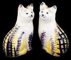 Vintage Scottish pottery cats