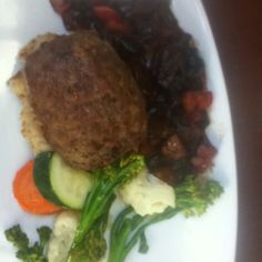 Gluten free meatloaf with mashed spuds and veggies at Calgary Delta South