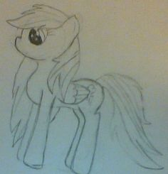 My friend has been going through some troubles and she loves Rainbowdash, so I drew this to cheer her up. As well as my OC it's not done, and this one needs A LOT of work, but, once again, I thought I'd pin it anyway.