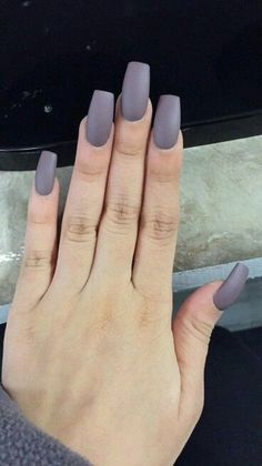 Squared matte gray. Are you looking for fall nail matte colors design for this autumn? See our collection full of cute fall nail matte colors design ideas and get inspired!