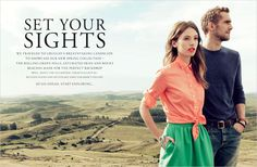 jcrew - online catalog march 2012 - nature as background - colorful clothing